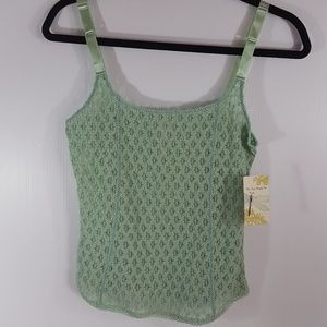New Free People | Seafoam Green Lace Cami size S